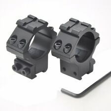 Hunting 30mm Ring Mounts Scope Mount  Fit 11mm Rail For Flashlight Rifle Scope