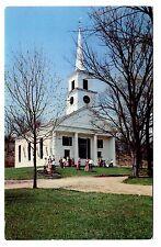 Old Sturbridge Village Green Vintage Postcard Massachusetts Meetinghouse Steeple