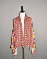 SOFT SURROUNDINGS $78 Multi-Color Print Copacabana Asymmetric Vest Small Medium