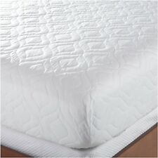 Bed Mattress Pad Cover Queen Size White Protector Pillow Top Topper Quilted Soft