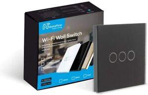 WiFi Smart Light Switch  Smart Light Glass Switch - 3 Gang