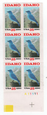 1990 IDAHO STATEHOOD 25 cent Stamps #2439 Plate # Block plus 2 Extra Stamps