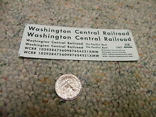 Herald King decals HO Washington Central Railroad green  XX307
