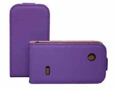 Premium Flip Case Tasche für Sony xperia Tipo in lila Etui Hülle Schutzcase