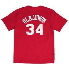 Hakeem Oajuwon Houston Rockets NBA Mitchell & Ness Red Hardwood Classics Shirt