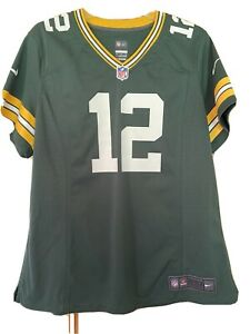 Green Bay Packers Womens Jersey Xl Nike Rodgers EUC