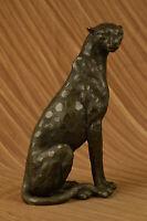 Art Nouveau Style Statue Sculpture Jaguar Wildlife Deco Style Bronze Hot Cast