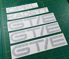 Opel Kadett GT/E GTE Stickers decals Tailgate boot hatch replacement aufkleber
