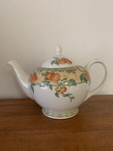 Large charming vintage Churchill teapot, fruit pattern