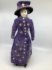 """15""""  China Bisque Doll.  China bisque extremities.  Cloth body."""