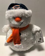 Chicago Bears NFL Football Forever White Soft Plush Stuffed Snowman Christmas