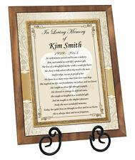 Sympathy Memorial Gift Clock Condolences Loss of Loved One Memorial Plaque Frame