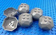 Lego Dark Grey Boulders City Town Construction Miners Castle Rocks Catapults
