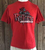 Rutgers Scarlet Knights Men's XL Tshirt Vintage 90's Red Short Sleeve JanSport