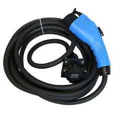 Duosida Blue 25 Ft EV Electric Vehicle Extension Cable SAE J1772 32-AMP 120-240V