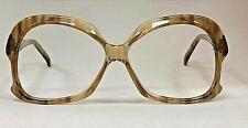 Vintage Oversized Retro Large Glasses Frames Brown / Crystal Clear