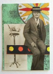 """""""A Different Time Line # 2"""" Original Collage Surrealism Mixed Media Art ACEO"""