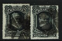 Brazil SC# 73, Used, two paper varieties - Lot 071617