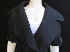 NEW KAUFMANFRANCO WOMEN WOOL CHARCOAL GRAY BELTED FASHION SHORT JACKET 2/38