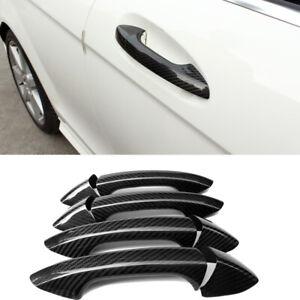 Carbon Fiber Car Door Handle Cover Trim For  Mercedes-Benz A/B/C/E/S Class 4Door