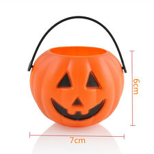 Halloween Party Props Plastic Pumpkin Bucket Trick Cosplay Decor Pouch China