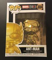 Funko Pop! Marvel Studio 10th Anniversary Gold Chrome Ant-Man #384 W/ Protector