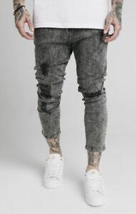 "SikSilk Men's Ultra Drop Crotch Distressed Denim Jeans Medium 32"" Waist"