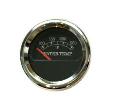 "Temp Gauge, 2""/52mm, 100-250F, black/chrome, blue LED, 043-T-BC"