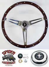 "1970-1973 Mustang steering wheel PONY 15"" MUSCLE CAR MAHOGANY Foreversharp"