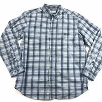 Columbia Mens Rapid Rivers II Button Down Shirt Blue Plaid L Large Collared