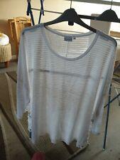 Plus size 34/36 Cellbes White Soft Touch Lace Trim Top