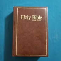 Holy Bible King James Version Giant Print Reference KJV Regency 1976 Leatherette