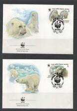 USSR 1987 – WWF POLAR BEAR FDC's SET OF 4 #A0815