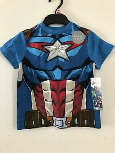 300x Piece Job lot Marvel Captain America Licensed T Shirts 1-1/2 to 7 Years Old