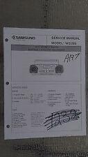 Samsung wg 285 service manual original repair book stereo boombox radio