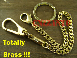 Solid Brass Lobster Clasps swivel snap hook key chain ring holder hook H169