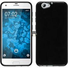 TPU Silicone Case For HTC One A9s - Black Gloss Ultra Slim Soft Gel Skin Cover