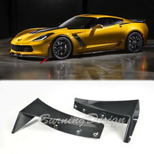 For 14-Up Corvette C7 Z06 Z07 Stage 3 Front Splitter Extension ABS Kit Winglets