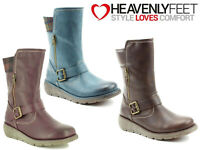 Ladies Mid Calf Boots Heavenly Feet Comfy Memory Foam Winter Warm Outdoor Shoes
