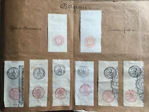 TIMBRES BELGIQUE EFFETS de COMMERCE / TIMBRE FIXE 1880 - LOT -