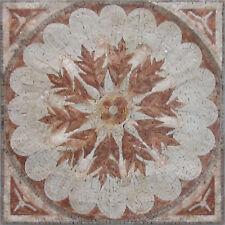 "Geometric Flower Pattern Shower 30""x30"" Natural Tile Marble Mosaic FL867"