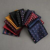 Luxury Man Polka Dot Striped Pocket Square men's Suit Handkerchief For Wedding