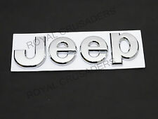 NEW JEEP CHROME BADGE FRONT OR REAR EXCELLENT QUALITY #G31