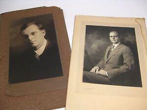 Rare Set (2) Vintage Original Portrait Photograph of Mr Frank Downes / Hinckley