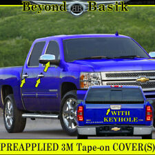 2007-2013 SILVERADO SIERRA 4D Chrome Door Handle Covers+Mirror+Tailgate WKeyHole