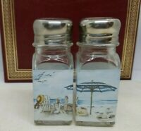 "Salt & Pepper Shakers, Beach, 4"" H x 1.5"" W"