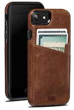 "SENA CASES Lugano Wallet LederCase for iPhone 7 (4.7 "") Cognac Braun"