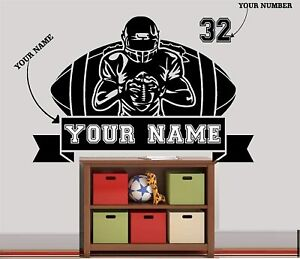 Customized American Football Vinyl Decal Sticker Sports Player for Wall Windows