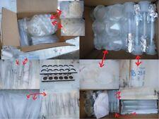 Labor Konvolut 20 Gewebe-Pinzetten Messzylinder Glaskolben Ständer Probe-Flasche