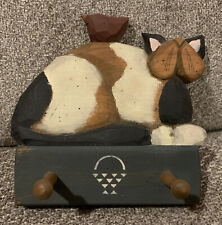 ORIGINAL WILLIRAYE WOODCARVING Cat And Bird Wall Hanging SIGNED BY ARTIST